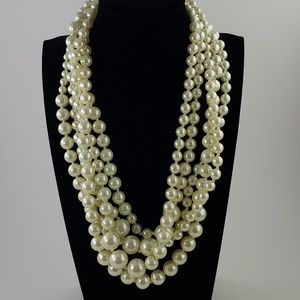 J. Crew Necklace Pearl Twisted Hammock Necklace